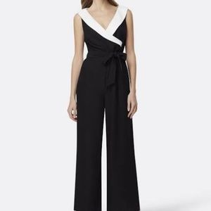NWT Tahari Faux-wrap Tuxedo Belted Jumper Size 4
